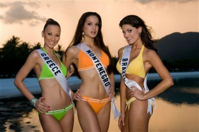 Bellezas morenas en Miss Universe 2008