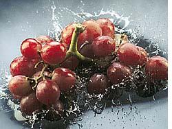 Uvas rojas para la presión alta