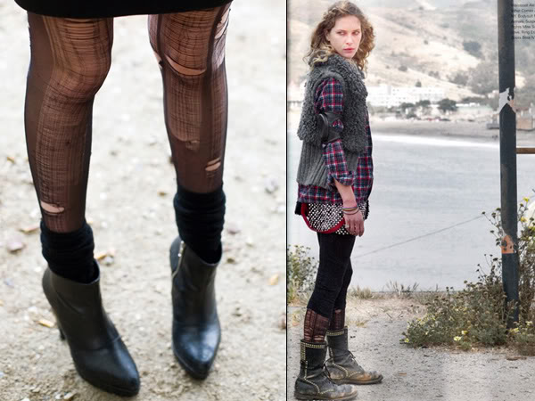 Ripped stockings street style and Erin Wasson