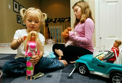 Playing Barbie
