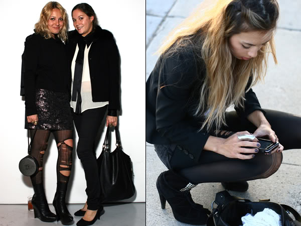 Laddered tights trend: street style photos
