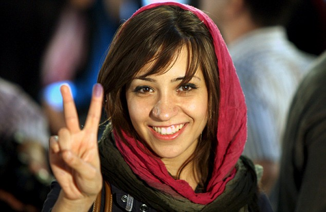female voter in iran