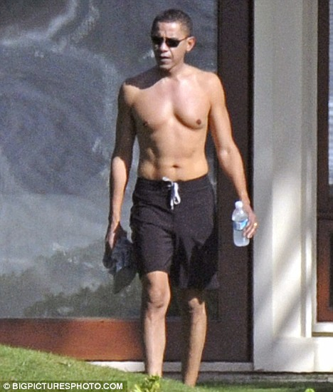 Commander in briefs: Barack Obama on holiday in his trunks