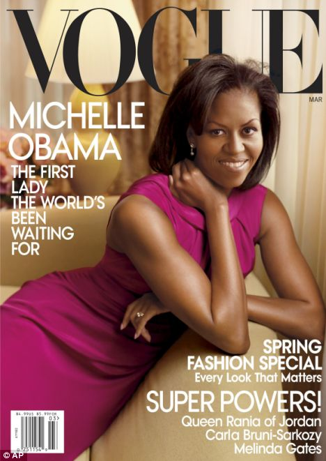 Cover girl: Michelle Obama becomes the second First Lady to ever appear on the cover of Vogue