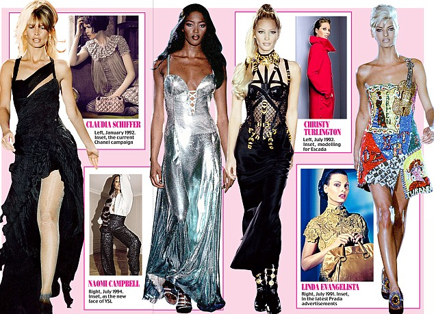 They're back: The Nineties icons are back in force to further their legacies (click to expand)