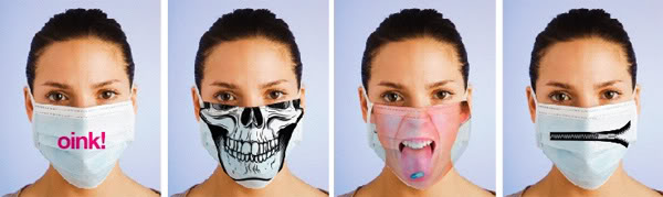 Swine flu chic face masks