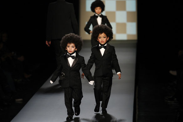 Gallery Thursday's menswear shows: Children on the catwalk at Jean-Paul Gaultier