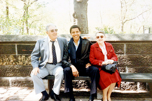 When Ann returned to Indonesia, the young Barack remained behind in Hawaii, where he was raised by his maternal grandparents. He eventually attended Columbia University in New York, where this photo was taken in the 1980s.