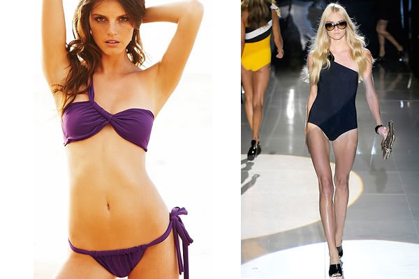 Single shouldered bikini swimwear catwalk Gucci Victoria's Secret
