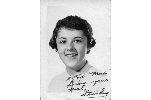 Though she has signed this sophomore yearbook photograph of herself