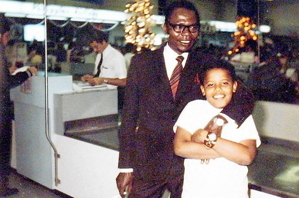 After the divorce, Barack Jr. only saw his father one more time, in Hawaii, in 1972, when this photograph was taken.